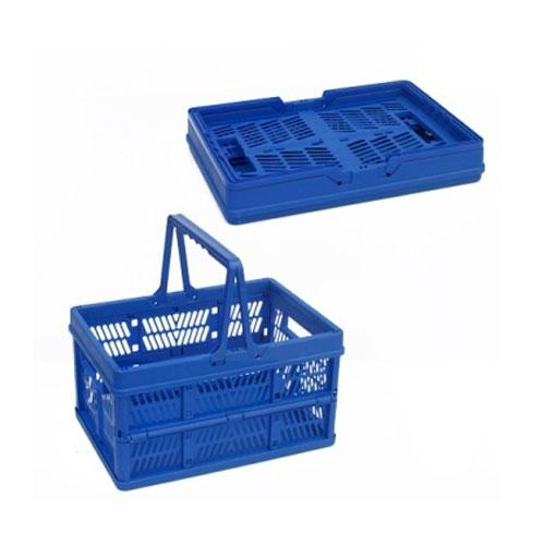 प्लास्टिक फोल्डिंग खरीदारी टोकरी साथ में हैंडल