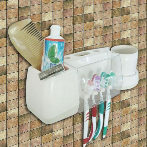 प्लास्टिक टूथब्रश धारक साथ में कप