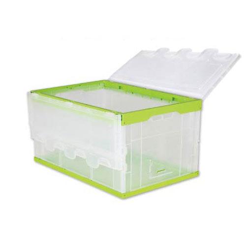 तह प्लास्टिक सूटकेस थोक कठोर प्लास्टिक पात्र के लिये भंडारण साथ में पक्ष द्वार