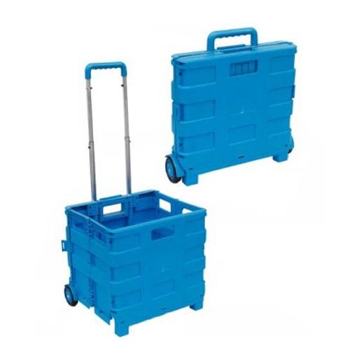 सुविधाजनक फोल्डिंग टोकरा खरीदारी ट्राली बैग डिब्बा तह रोलिंग गाड़ी