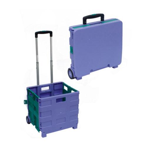 प्लास्टिक फोल्डिंग खरीदारी ट्राली धोबीघर यात्रा पोर्टेबल गाड़ी साथ में पहिया