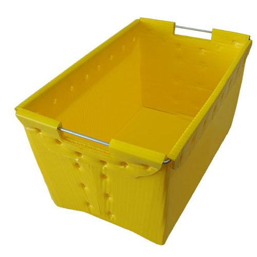 तह polypropylene खोखला भंडारण पीपी नालीदार प्लास्टिक बक्से के लिये फल सब्जियां